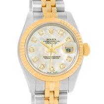 롤렉스 (Rolex) Datejust Steel 18k Yellow Gold Mop Diamond Dial...