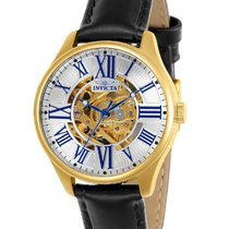 Invicta Vintage Womens Skeleton Automatic - Gold-Tone - Black...