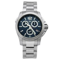 Longines Conquest Quartz Chrono 41mm Mens Watch