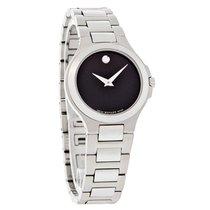 Movado Corporate Exclusive Ladies Black Museum Quartz Watch...