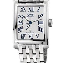 Oris Rectangular 30x44 Date, Roman, Steel Bracelet