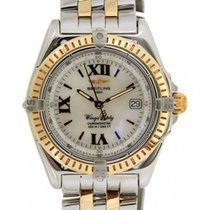 Breitling Wing Lady D67350 In Yellow Gold And Steel, 31mm