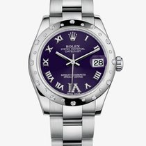 Rolex Datejust 31mm Steel and White Gold 178344 Purple