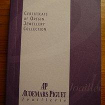Audemars Piguet Certificate of Origin Jewellery Collection, New.