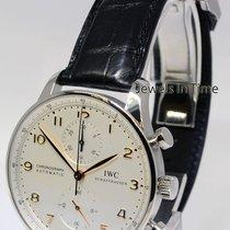 IWC 3714 Portuguese Chronograph Steel Watch & Deployant...