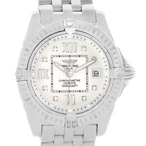 Breitling Windrider Cockpit Silver Diamond Dial Ladies Watch...