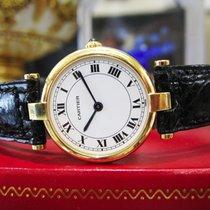 Cartier 18k Yellow Solid Gold 24mm Round Ladies Watch