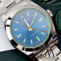 Rolex Milgauss Blue Dial Stainless Steel Oyster Perpetual Mens...