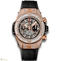 Hublot Big Bang 45 mm Unico 18K King Gold 176 Diamonds and...