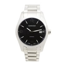 Longines Conquest Stainless Steel Black Automatic L2.785.4.56.6