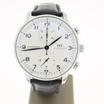 IWC Portuguese Chrono Steel 41mm BlueHands (B&P2012) MINT