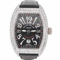 Franck Muller 18k White Gold King Conquistador Watch w/ Diamonds