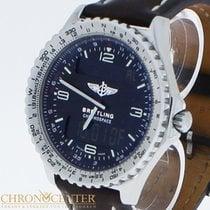 Breitling Chronospace Stahl/Leder Ref. A56012 Box & Papiere