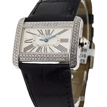 Cartier Tank Divan in White Gold with Diamond Case