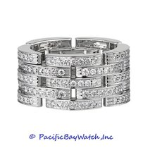 Cartier Maillon Panthere White Gold Diamond Ring