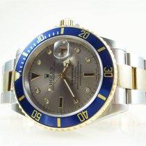 Rolex Submariner 16613 stahl/gold Sultan Serti dial 2006 TOP