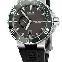 Oris Aquis Small Second, Date, Ceramic Top, Rubber, Grey
