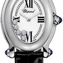 Chopard Happy Sport White Diamond Dial 18kt White Gold Ladies...