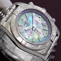 Breitling Chronomat 44 Steel Mother of Pearl Diamonds