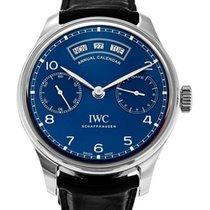 IWC Portugeiser Midnight Blue Dial 18K Rose Gold Automatic...