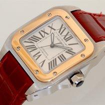 Cartier Santos 100 Medium Size 18K Rose Gold and Steel