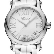 Chopard Happy Sport 36mm Quartz  White Dial With Diamonds T