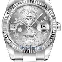 勞力士 (Rolex) Datejust 36mm Stainless Steel 116234 Silver Floral...