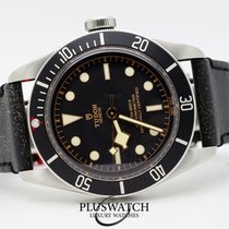 Tudor Heritage Black Bay Automatic  Matt Black Disc Leather Strap