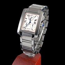 Cartier tank francaise chronograph steel quartz men size