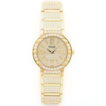 Piaget Yellow Gold Polo Limelight Full Diamond Bracelet Watch