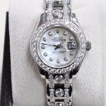 Rolex Pearlmaster 18K White Gold 69329 MOP Diamond Dial &...