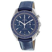 Omega Speedmaster Moonwatch Blue Dial Chronograph Mens Watch...