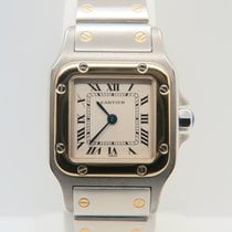 Cartier Santos Galbee Lady 18k Gold Steel New Model (Box&P...