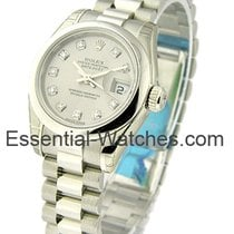 Rolex Unworn 179166 Ladys President in Platinum with Domed...
