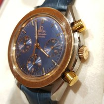 Omega Speedmaster reduced rare red gold blue dial