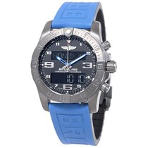 Breitling Exospace B55 Connected Blue Rubber Men's Watch...
