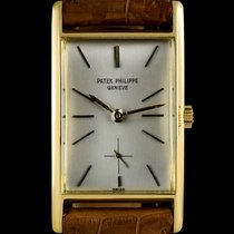 Patek Philippe 18k Y/G Curved Case Gondolo Vintage Gents 2554