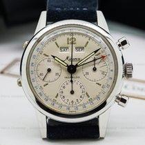 Minerva VF 12 Vintage Calendar Chronograph SS / Silver Dial