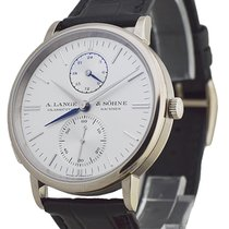 A. Lange & Söhne 385.026 Saxonia Dual TIme Mens in White...