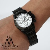 Rolex Exclusive Rolex Daytona 40mm Black Pvd White Dial Oyster...