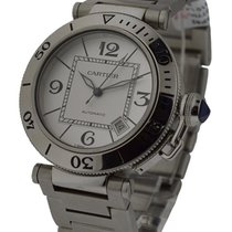 Cartier W31080M7 Pasha Seatimer in Steel - On Bracelet with...