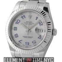 Rolex Datejust II Steel & White Gold Silver Dial Purple...