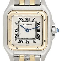 Cartier Panthere Ladies 2-Tone 2-Row Steel & Gold Watch...