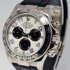 Rolex Mens Daytona 18k White Gold Chronograph Watch & Box...