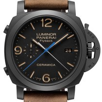 Panerai [NEW] Luminor 1950 3 Days Chrono Flyback Ceramica PAM 580