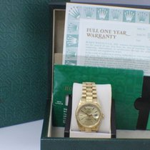 Rolex President 18248 Brak Finish Champagne Box & Papers