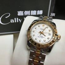 Tudor Cally - 22013 10DI Classic Date Steel Gold Silver Diamond