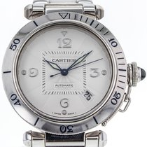 Cartier Pasha 38mm Date 2353 18k White Gold Automatic Men'...