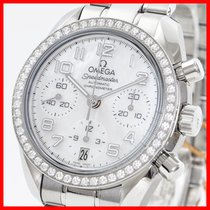 Omega Speedmaster Chronograph 38mm Perlmutt Diamanten 1.10ct