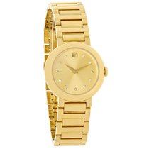 Movado Concerto Series Ladies Diamond Gold Tone Swiss Quartz...
